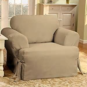 T Cushion Slipcovers Sure Fit Cotton Duck T Cushion Chair