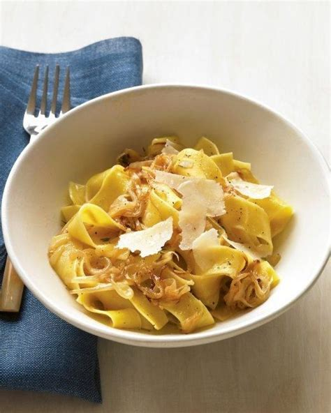 pappardelle pasta recipe vegetarian pappardelle with caramelized onions and parmesan recipe