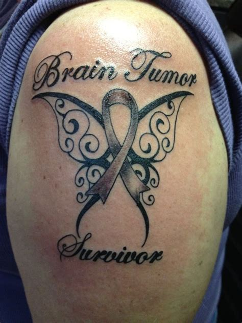 brain cancer tattoos best 10 brain tumor ideas on being happy
