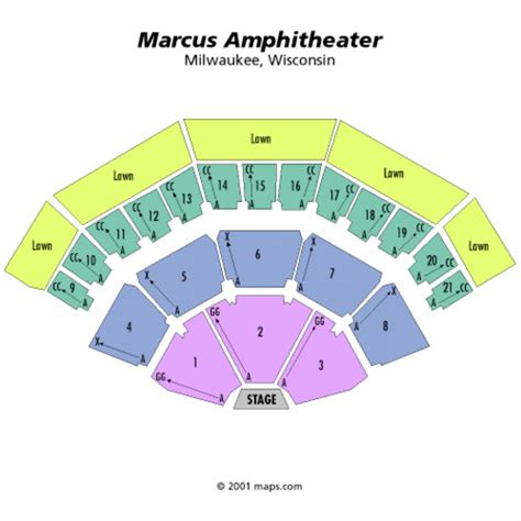 Marcus Amphitheater Seating Chart, Marcus Amphitheater