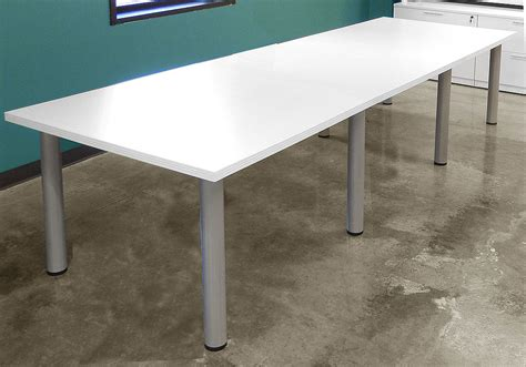 White Meeting Table White Meeting Table White Conference Tables 8 Length See Other Sizes White Rectangular