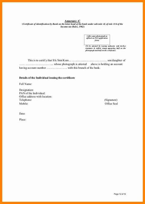 certification letter for address proof address certification letter sle 28 images
