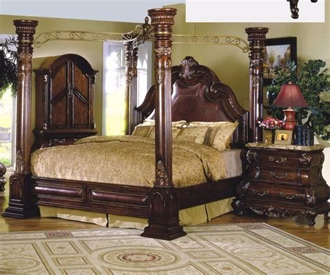 monaco bedroom set mcferran rb9088 monaco leather eastern king size bedroom