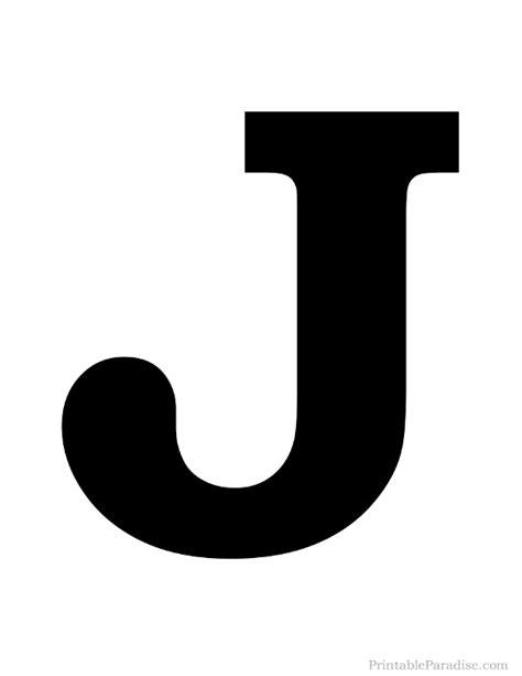 Printable Letter J Silhouette   Print Solid Black Letter J