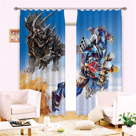 boys bedding saveemail 3d transformer printed blankets 3 layers of plant tissue black silk curtain fabric