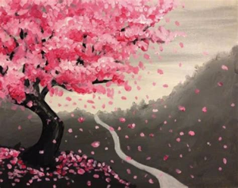 paint nite japanese cherry blossoms paint nite the comes to century city this