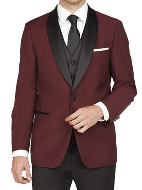 wine color tuxedo arlan shawl tuxedo in wine by fog rent from 65