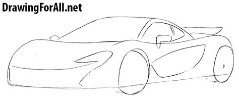 mclaren p1 drawing easy how to draw a mclaren p1 drawingforall net