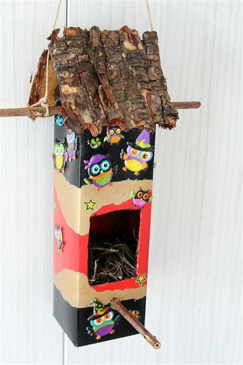 diy milk carton birdhouse diyideacentercom