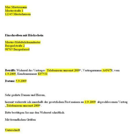 Musterbrief Abo Widerruf Relevante Links Vodafone Widerruf Muster Adressen