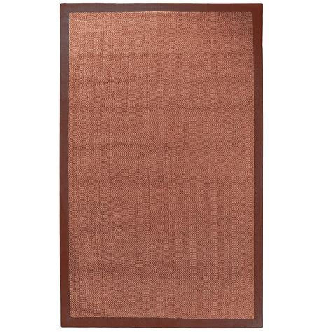 Jute And Chenille Area Rug Lanart Chenille Sisal Coral 8 Ft X 10 Ft Area Rug Chsisal810co The Home Depot