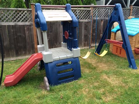 little tike swing and slide little tikes clubhouse swing set and slide saanich victoria