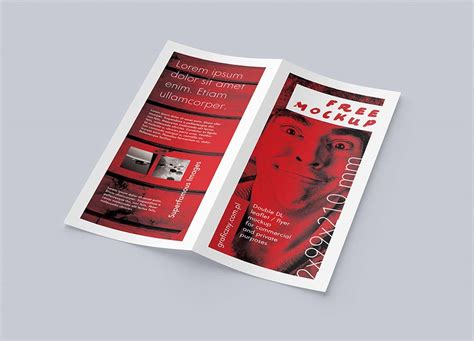 bi fold flyer template bifold flyer mockups freecreatives