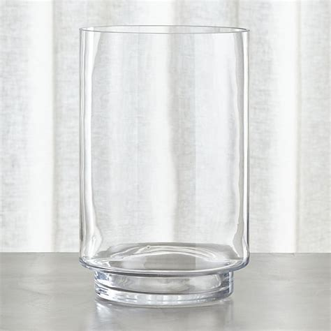 glass hurricane ls taylor extra large hurricane candle holder crate and barrel