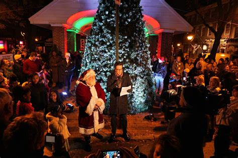 head house square south st headhouse square tree lighting ceremony parade wooder ice