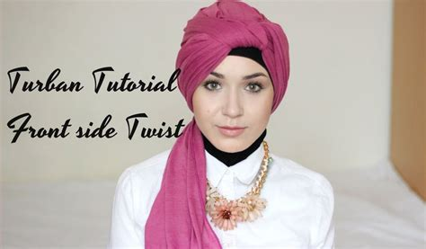 tutorial twisted turban turban tutorial front side twist nabiilabee diy