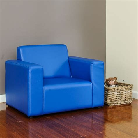 Childrens Leather Sofa by Pvc Leather Single Seat Sofa In Blue Buy