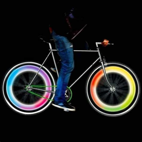 lights on wheels of a bicycle psychedelic bicycle lights bike wheel lights