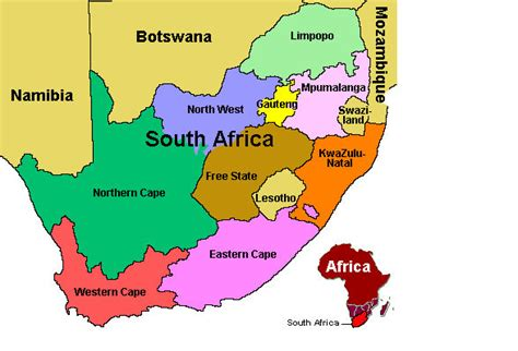 regional map of south africa nature perspective south africa