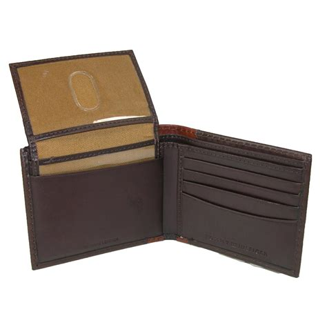 Bifold Wallet mens leather melton bifold passcase wallet by