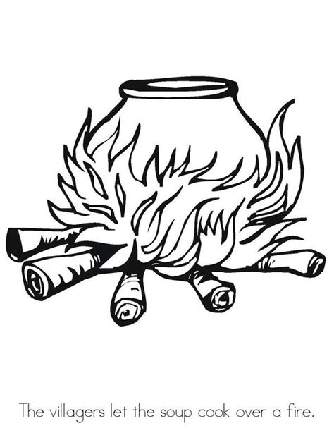 free coloring pages of stone soup