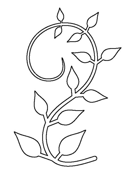 vine leaf coloring page vine pattern use the printable outline for crafts