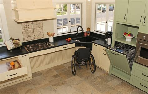 accessible kitchen cabinets english country accessible kitchen traditional kitchen