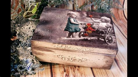 Decoupage Tutorial Wood - decoupage tutorial vintage wooden box with children
