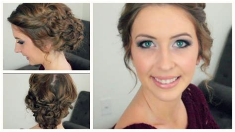 and easy hairstyles for curly hair for school easy curly updo for any length style of hair spreadinsunshine15