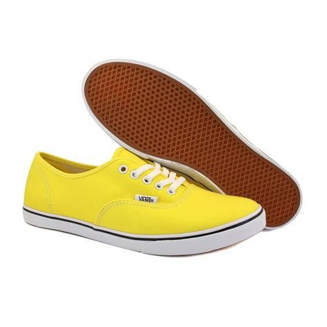 womens yellow sneakers vans authentic lo pro qes7z4 womens canvas laced trainers