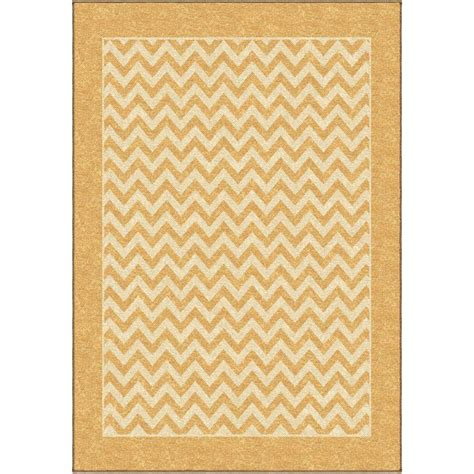 Area Rugs Chevron Orian Rugs Chevron Stripe Gold 5 Ft 2 In X 7 Ft 6 In Indoor Outdoor Area Rug 281217 The