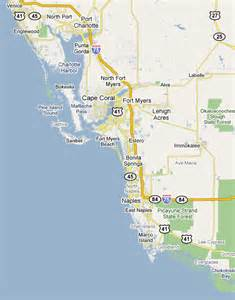 map of florida southwest coast south west florida coast map