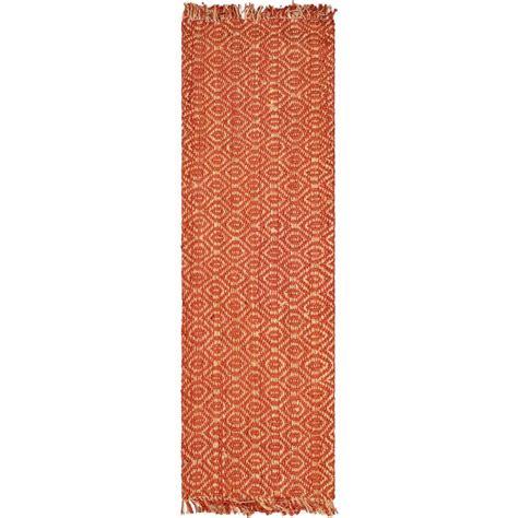 16 ft runner rug safavieh fiber rust 2 ft 6 in x 16 ft rug runner nf445a 216 the home depot