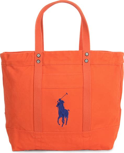 Ralph Blue Label Small Canvas Tote by Ralph Big Pony Canvas Handbag Darkblue