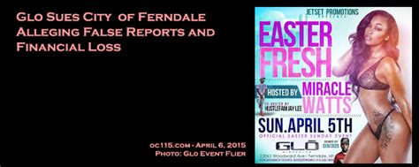 False Reports On by Glo Sues City Of Ferndale Alleging False Reports And Financial Loss Updated The Oakland County