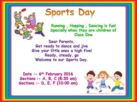 design of invitation card for sports day invitation letter format sports day choice image