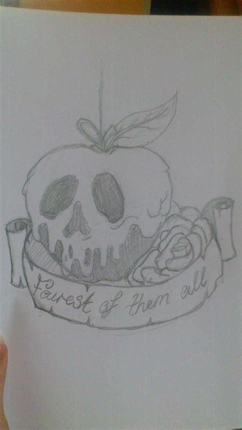 poison apple tattoo banner and poison apple design