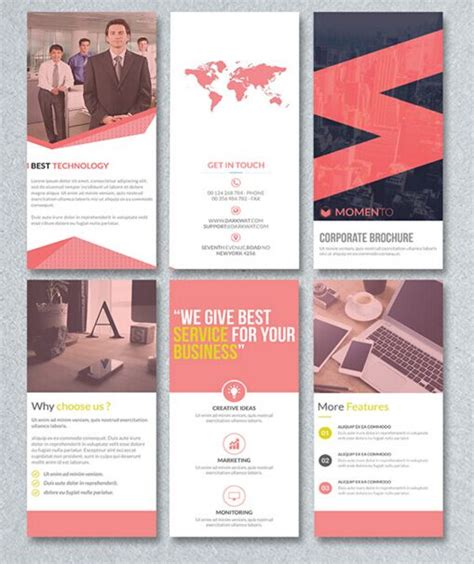 free corporate trifold brochure psd template titanui