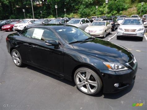 black lexus 2012 obsidian black 2012 lexus is 250 c convertible exterior