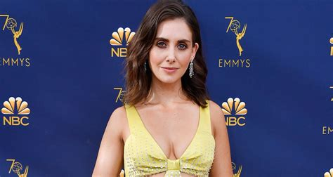 alison brie emmy nominations alison brie glows on the emmy awards gold carpet 2018