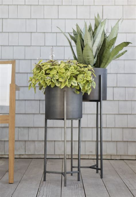 Planters For Outdoor Room Dundee Floor Planters Crate Planter With Stand