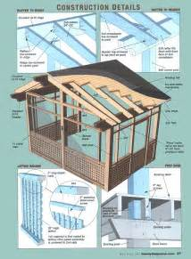 Screened Porch Plans by How To Build A Screen Porch Joy Studio Design Gallery