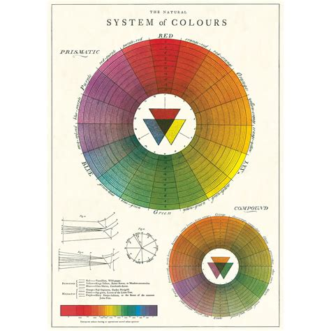 color wheel chart color wheel chart artist vintage style classroom poster