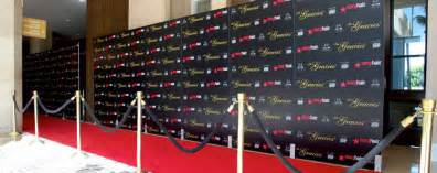 Los angeles step amp repeat banners red carpet rental amp event