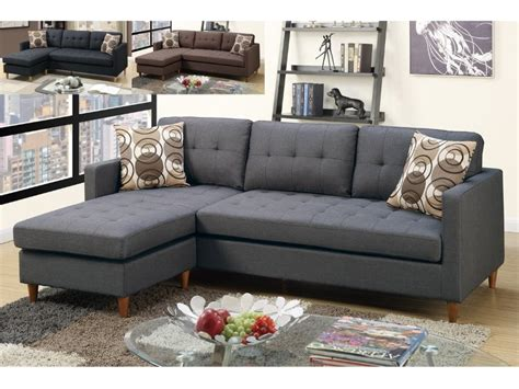Grey Linen Sectional Sofa by Blue Grey Linen Sectional