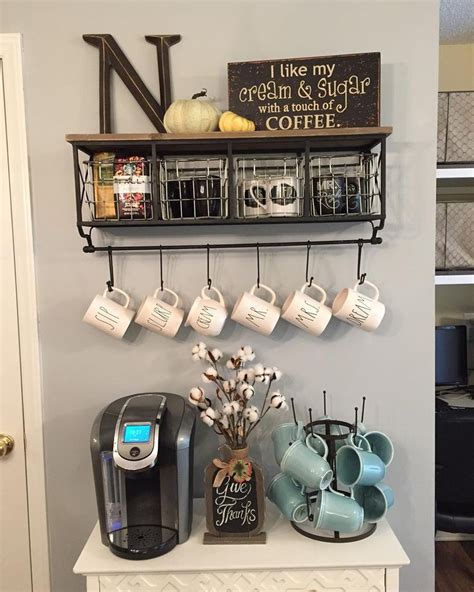 Black Metal Wood Shelf With Baskets 7 Hooks by 25 Best Ideas About Coffee Stations On Coffee
