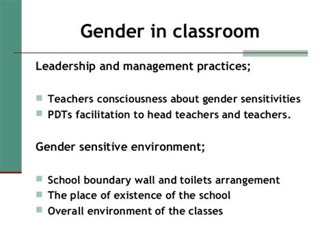 Gender Differences In The Classroom Essay by Observation In Classroom Essay