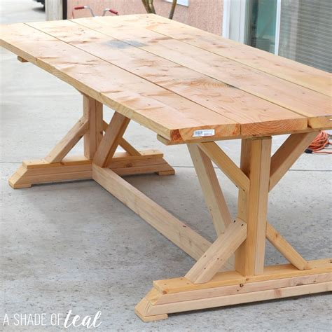 rustic outdoor table plans building a outdoor rustic farmhouse table