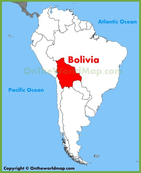 map of bolivia bolivia location on the south america map