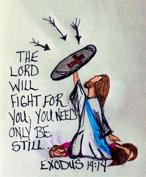 doodle jesus quot the lord will fight for you you need only be still